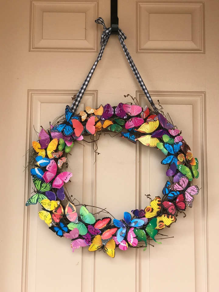 D.I.Y. Butterfly Wreath